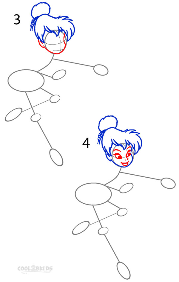 how to draw tinkerbell step 2