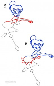 How to Draw Tinkerbell Step 3