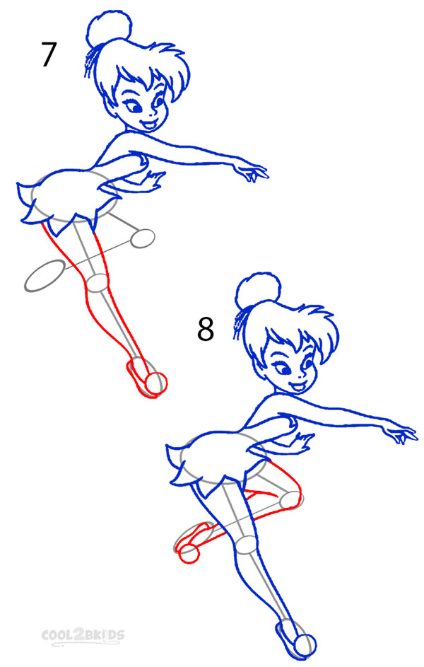 How To Draw Tinkerbell (Step By Step Pictures)
