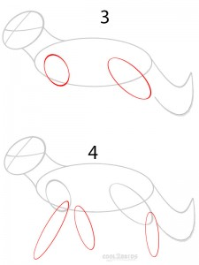 How to Draw a Cartoon Wolf Step 2