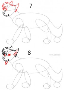 How to Draw a Cartoon Wolf Step 4