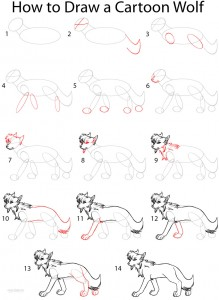 How to Draw a Cartoon Wolf Step by Step