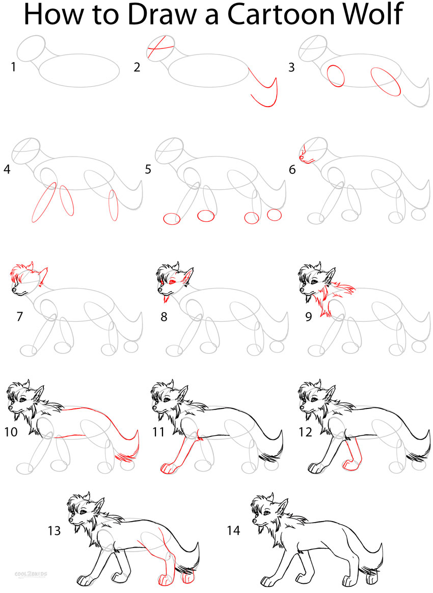 How to draw a cartoon wolf anime step by step pictures for How to make cartoon drawings step by step