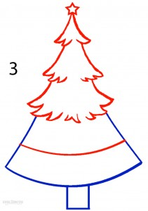 How to Draw a Christmas Tree Step 3