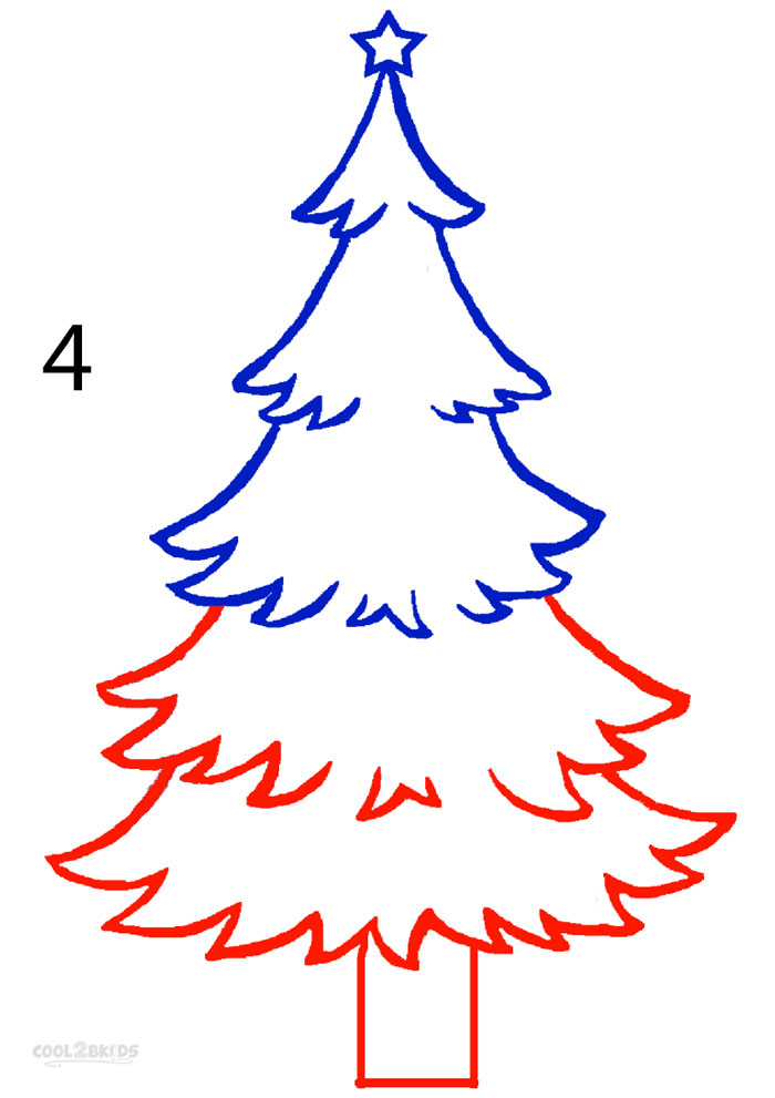 How To Draw A Christmas Tree (Step By Step Pictures