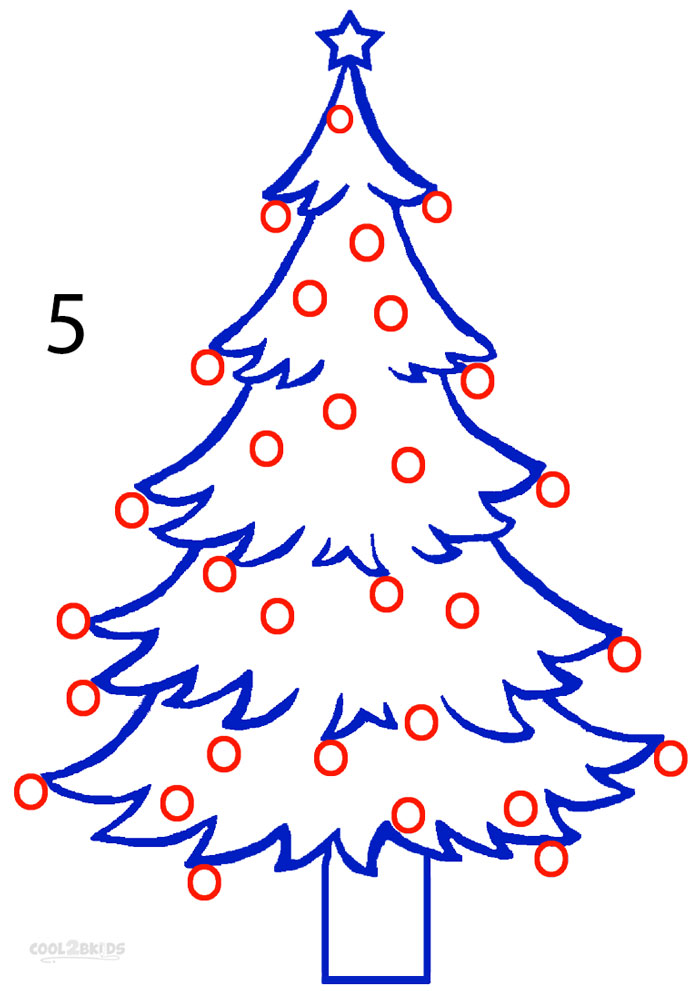 How To Draw A Christmas Tree Step By Step For Beginners.How To Draw A Christmas Tree Step By Step Pictures