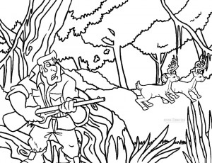 Hunting Coloring Pages for Kids