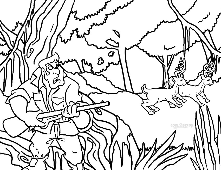 hunting coloring pages for kids - Color Printable Pages