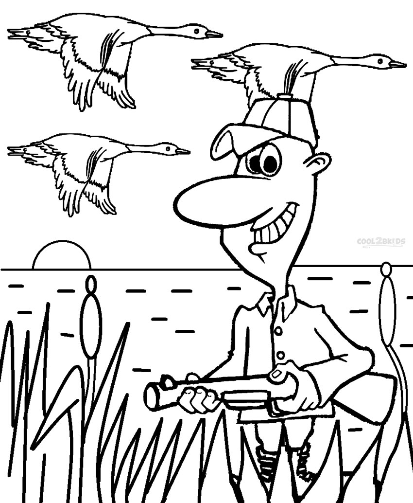 hunting coloring pages to print