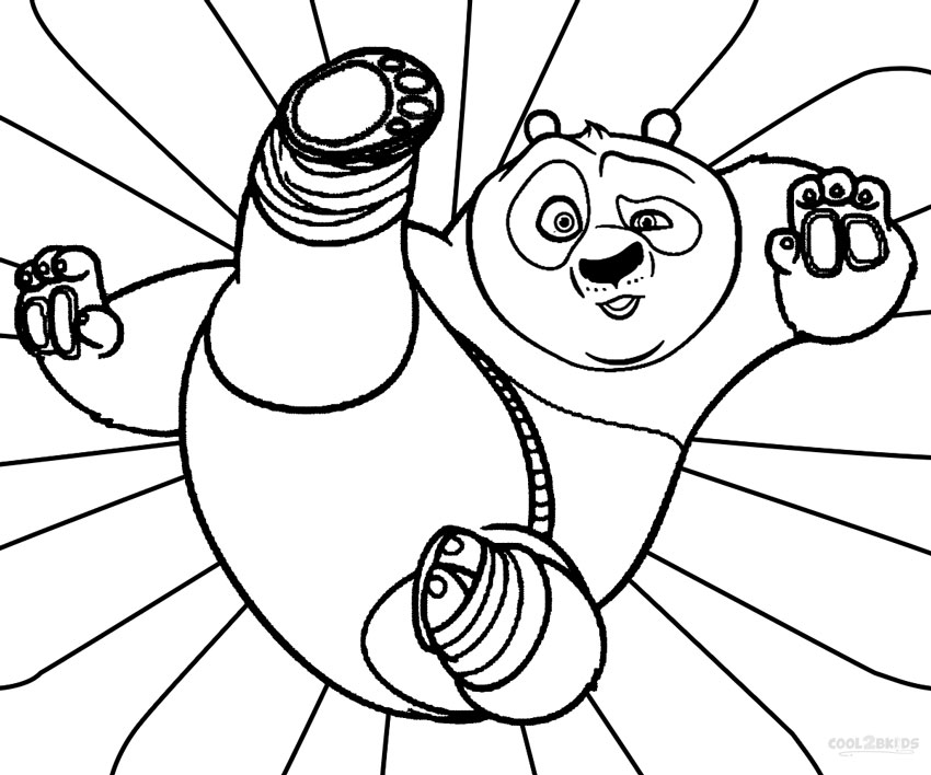 Kung Fu Panda Coloring Pages Printable