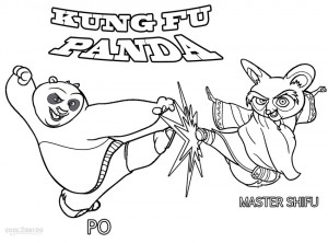 Kung Fu Panda Coloring Pages for Kids