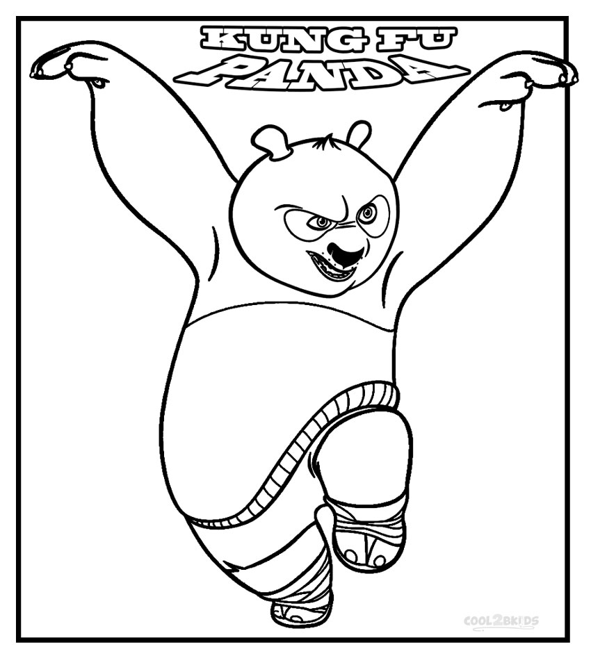 Kung Fu Panda Coloring Pages Printable Kung Fu Panda Coloring Pages For Kids  Cool2Bkids