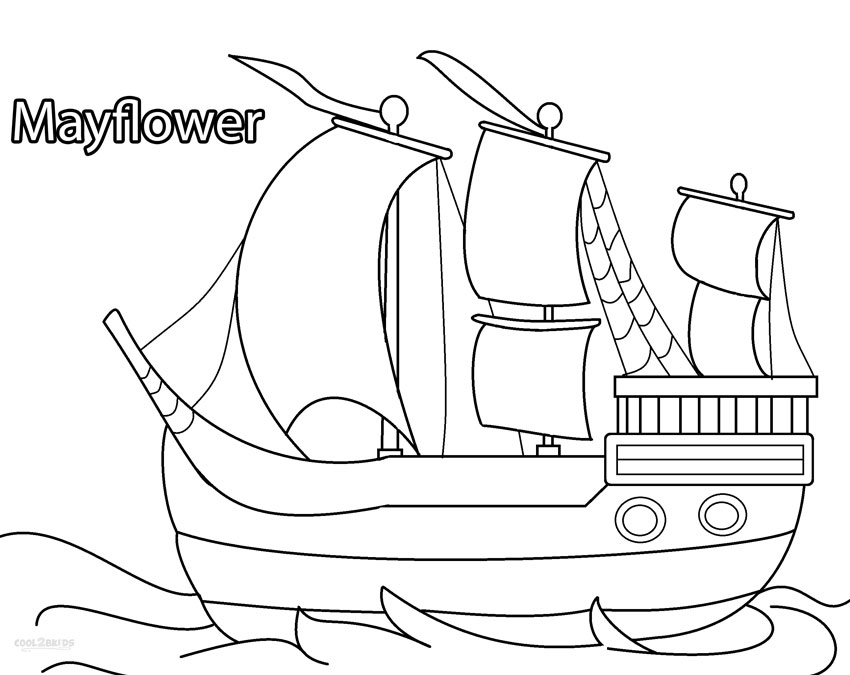 Pilgrims Mayflower Coloring Pages | Coloring Pages