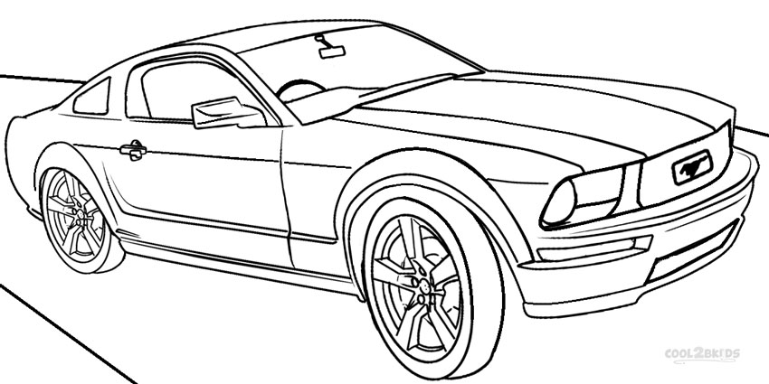 car coloring pages for kids Printable Mustang Car Coloring Pages | Coloring Pages car coloring pages for kids
