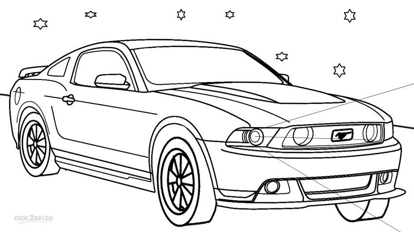 Coloring Pages Mustang Car : Free coloring pages of ford mustang cobra