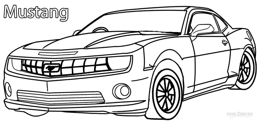 nfs ford mustang coloring pages - photo#32