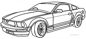 Mustang Coloring Pages for Kids