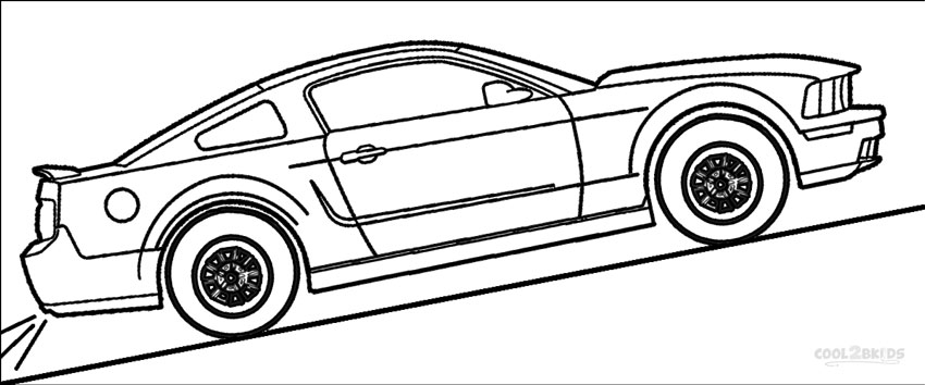 mustang coloring pages to print - photo#27