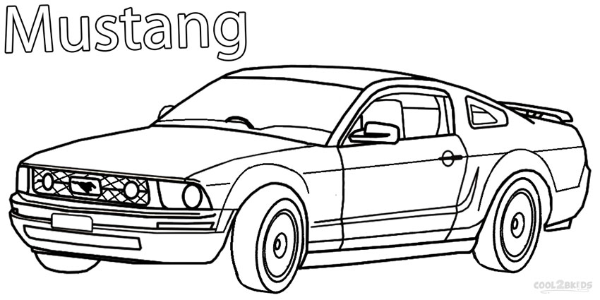 mustang coloring pages to print - photo#26