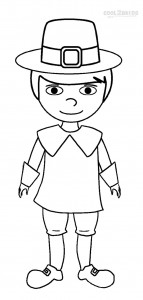 Pilgrim Boy Coloring Pages to Print