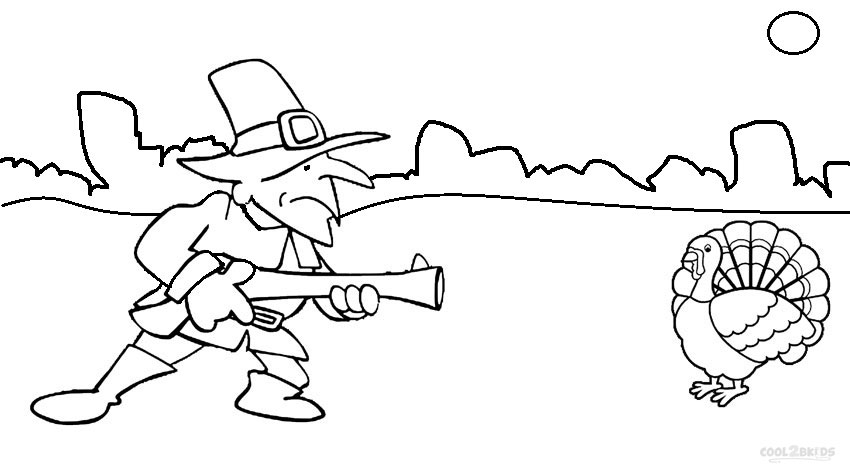pilgrim coloring pages for kids