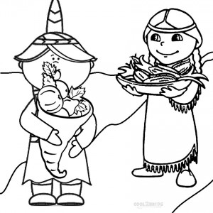 Pilgrim Harvest Coloring Pages
