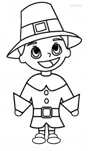 Pilgrim Hat Coloring Pages Printable