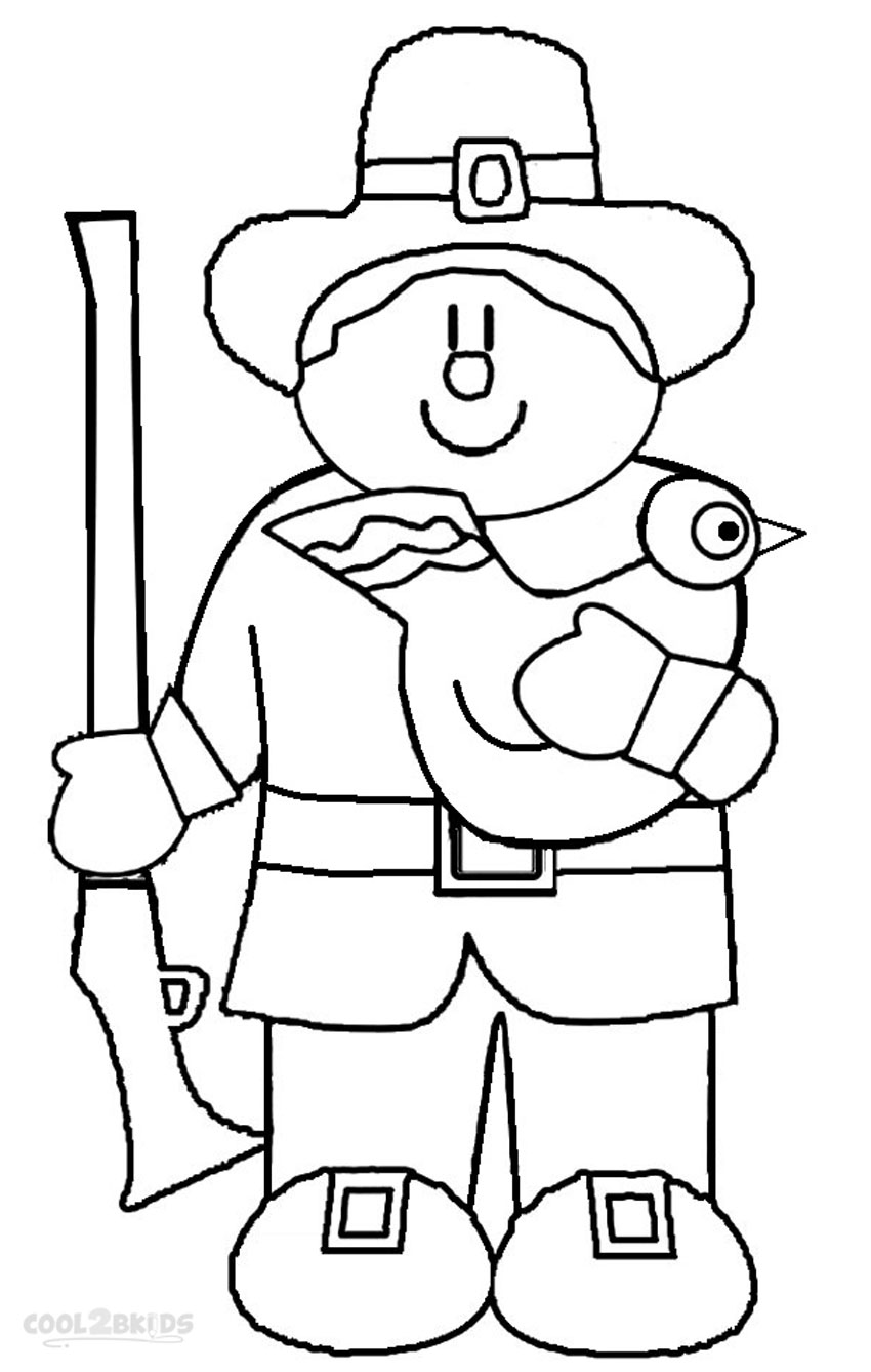 Pilgrim Family Coloring Pages