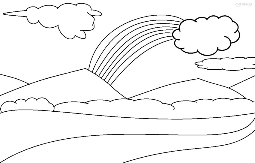 types of clouds coloring pages