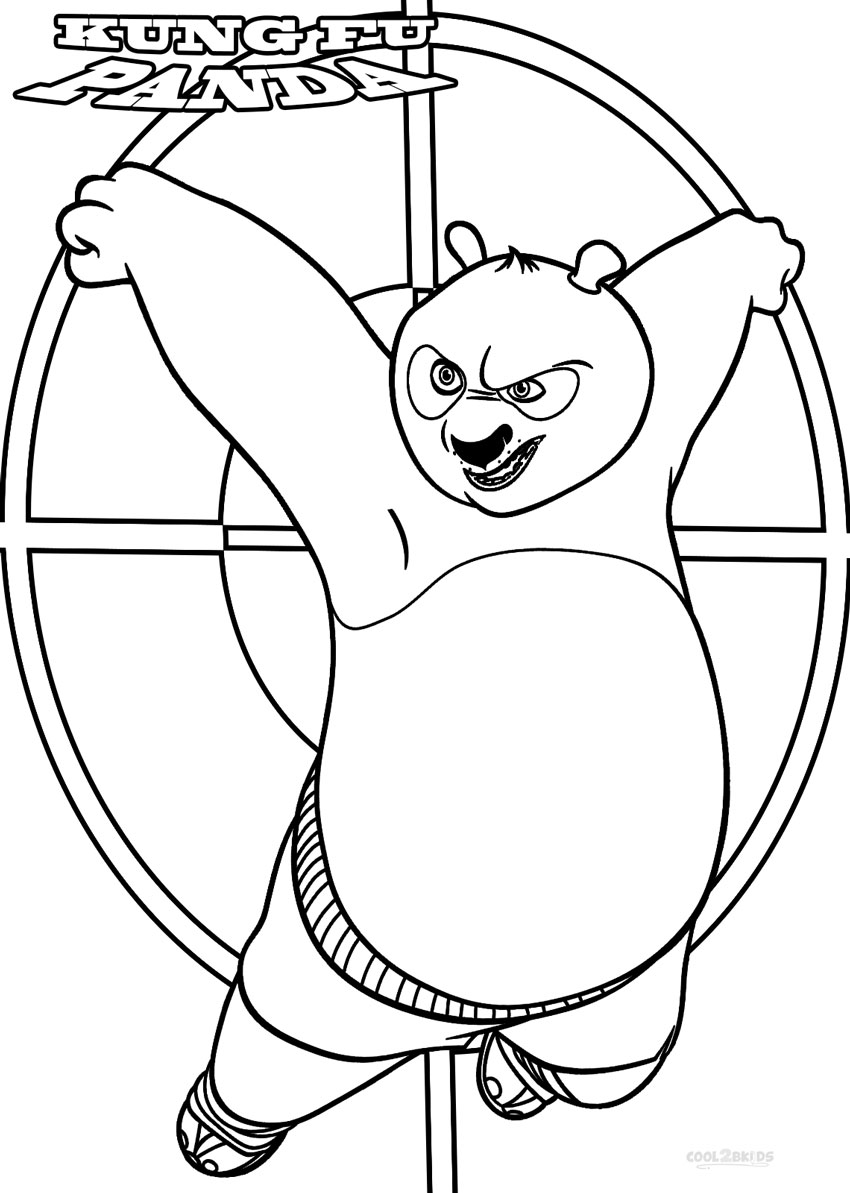 Printable Kung Fu Panda Coloring Pages