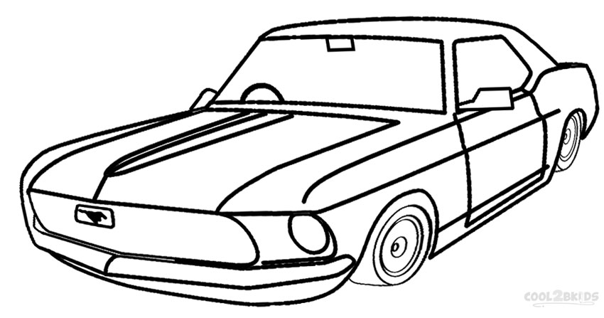 coloring pages cars kids printable | Printable Mustang Coloring Pages For Kids | Cool2bKids