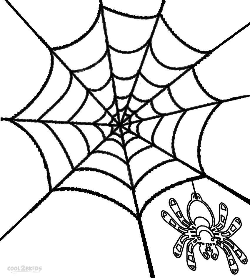 Printable Spider Web Coloring Pages For Kids Cool2bkids Spider Web Coloring Page
