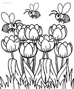 Printable Tulip Coloring Pages