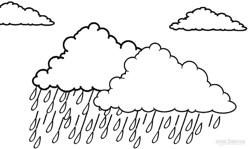 Cloud Coloring Pages Printable Cloud Coloring Pages For Kids  Cool2Bkids