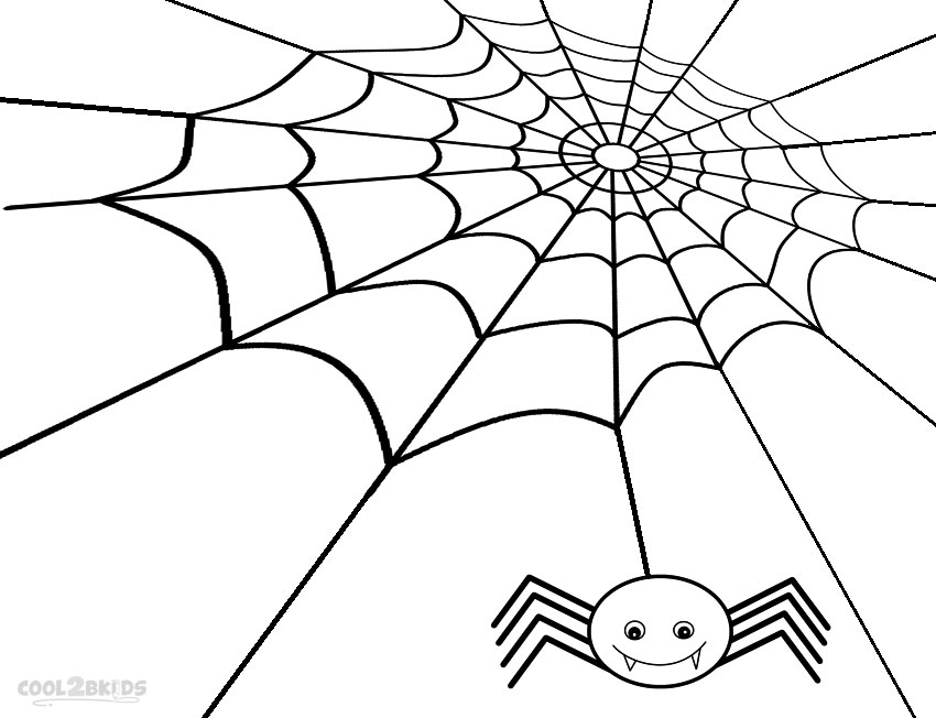 free spider web coloring pages - photo#21