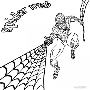 Printable Spider Web Coloring Pages