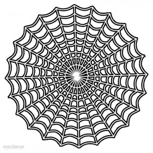 Spider Web Coloring Sheets