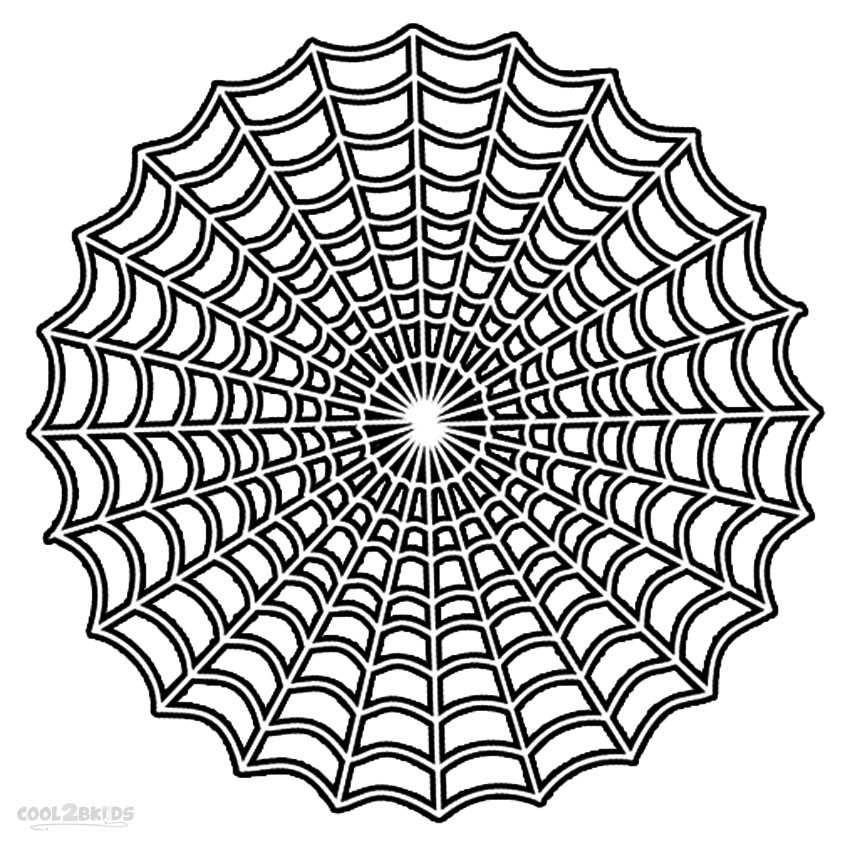 free spider web coloring pages - photo#16