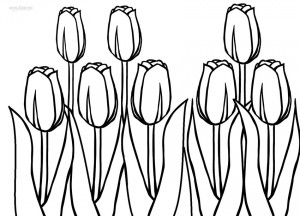 Tulip Coloring Pages to Print