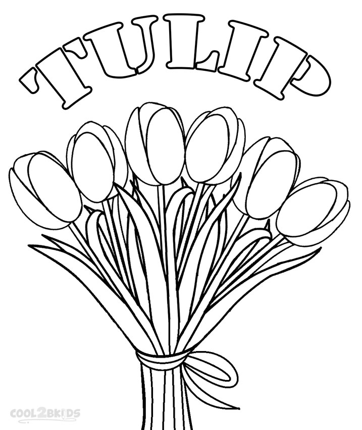 Printable Tulip Coloring Pages For Kids Cool2bkids Tulip Coloring Page