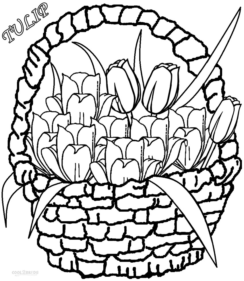 Printable Tulip Coloring Pages For Kids Cool2bKids