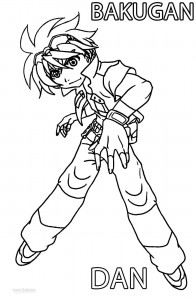 Bakugan Dan Coloring Pages