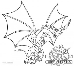 Bakugan Drago Coloring Pages