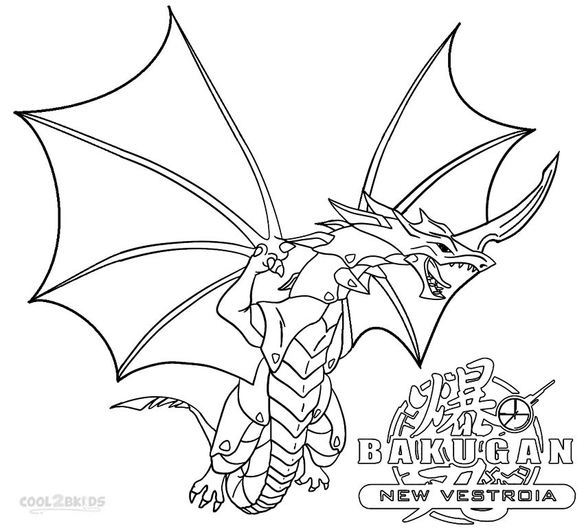 Bakugan Dragonoid Coloring Pages Coloring Pages