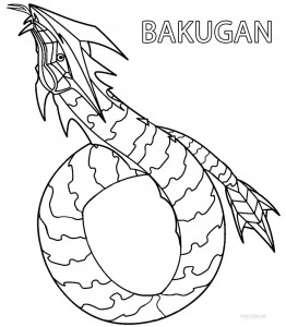 Bakugan Dragonoid Coloring Pages