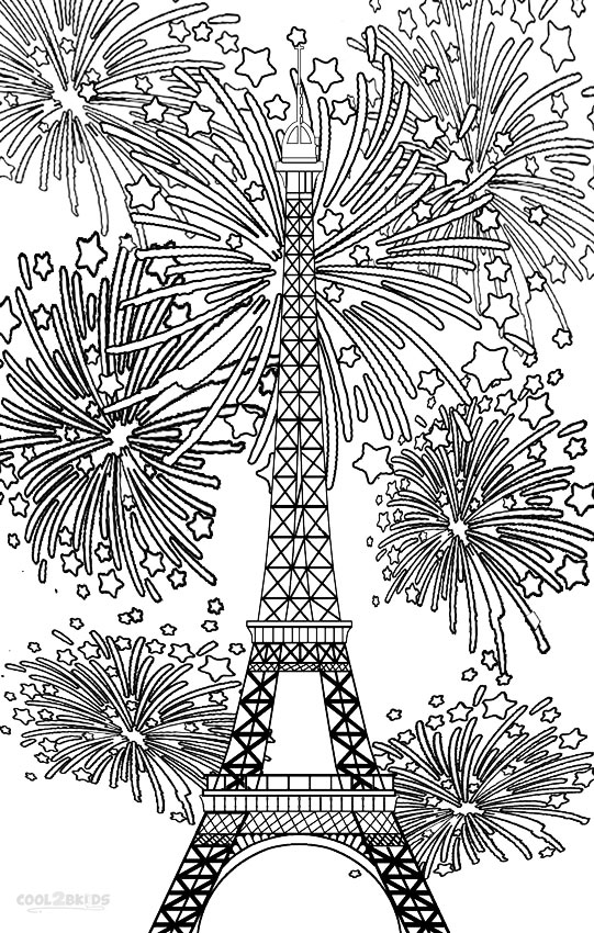 printable fireworks coloring pages for kids cool2bkids