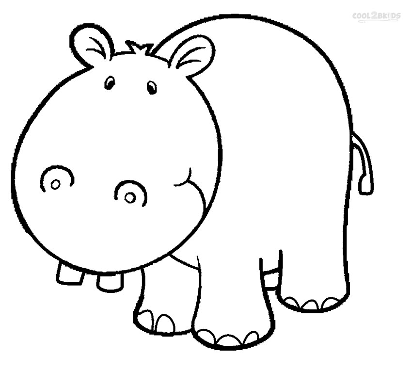cute baby hippo coloring pages - Hippo Coloring Pages