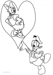 Donald and Daisy Duck Coloring Page