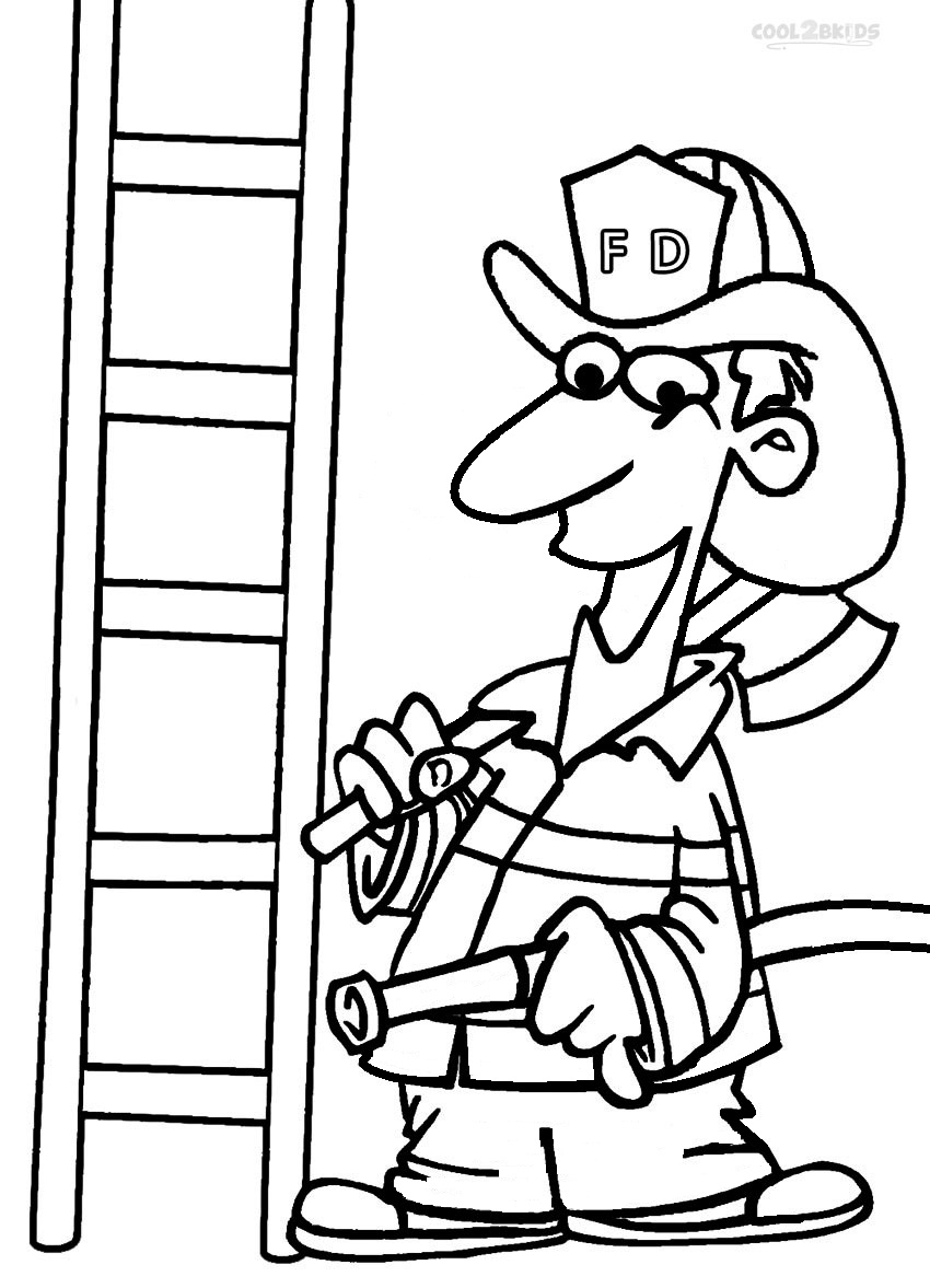 Free Coloring Pages Of Fireman Clipart Fireman Hat Coloring Page 2