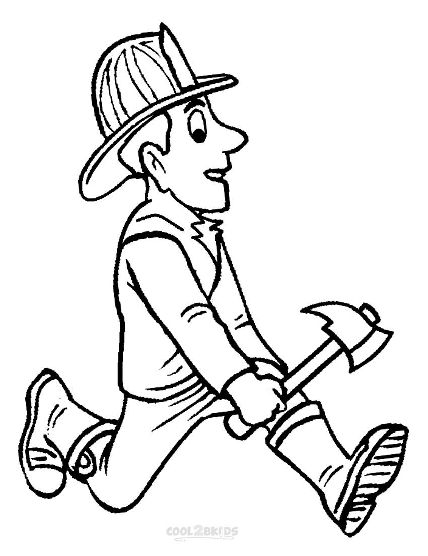 Free Printable Fireman Coloring